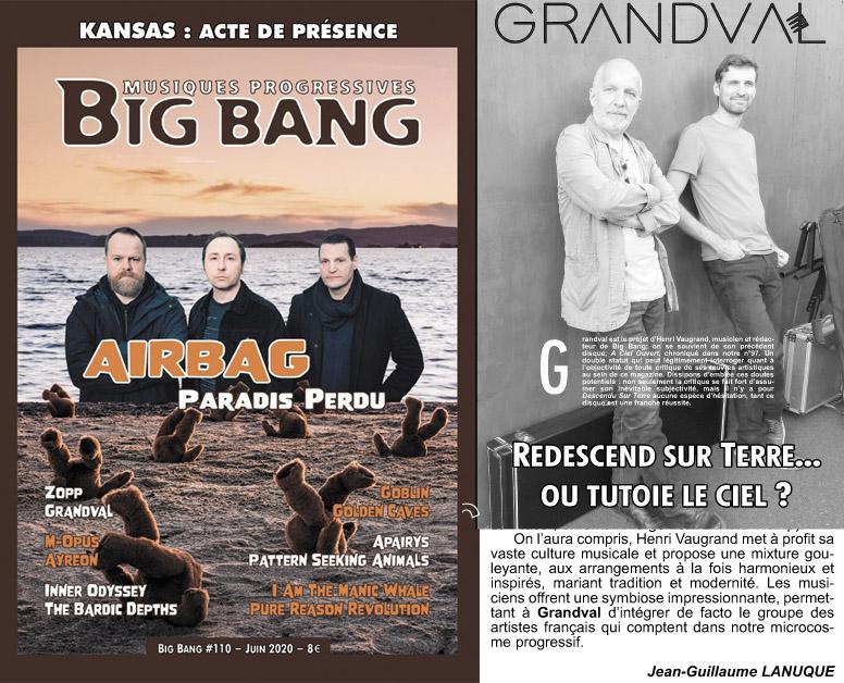 Big Bang - Musiques progressives, #110, juin 2020.